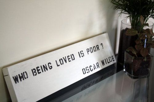 who being loved is poor?