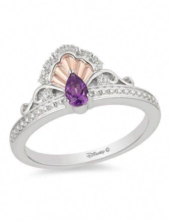 Rose Quartz Engagement Ring Rose Gold Simple Engagement Ring