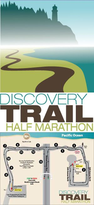 The Discovery Trail Half Marathon - a scenic chip-timed run along the Washington coast.