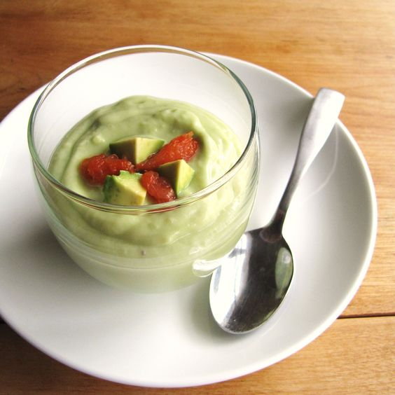 Chilled Avocado-Wasabi Soup with Caramelized Grapefruit | Avocado ...