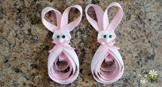 Bunny hairbows
