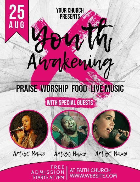 Church Youth Event Flyer Event Flyer Concert Flyer Faith Church