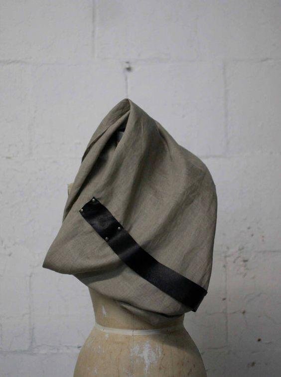 la bufanda de cuero y lino 046 por artlab en Etsy