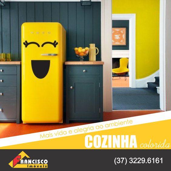 Aposte nas cores alegres para a sua casa! Ambiente colorido transmite alegria.
