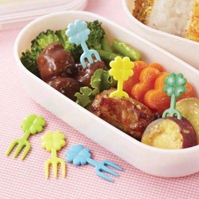 Clover Food Forks http://littlebentoworld.com/shop/food-picks/clover-food-forks/