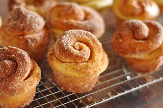 muffins mit Zimt - gerollt