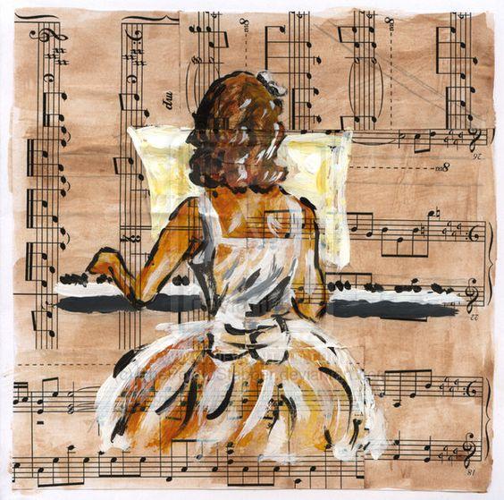 Girl playing piano by ThePotatoStabber.deviantart.com on @deviantART