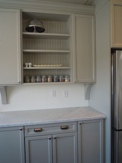 Bedford gray martha stewart paint on cabinets paint for Martha stewart cabinets