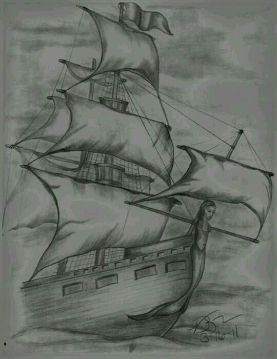 Pin De Vinicius Xavier En Nordicheskie Tatuirovki Paisaje A Lapiz Dibujo De Barco Arte De Pirata