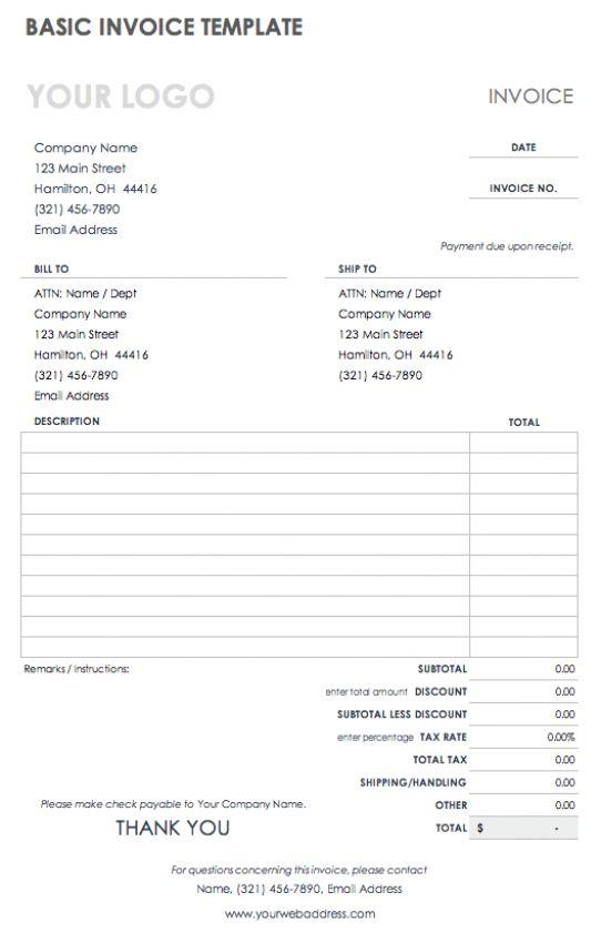 Invoice Template Fillable Pdf In 2021 Invoice Template Receipt Template Invoice Template Word