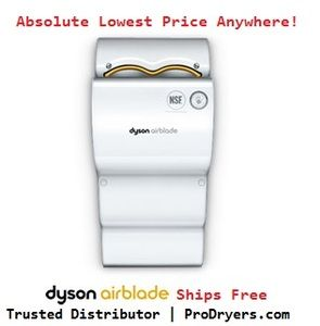 Dyson AB04-120-W Airblade Hand Dryer (White), 110-120V, Polycarbonate ABS, Hygienic Energy Efficient Hand Dryer