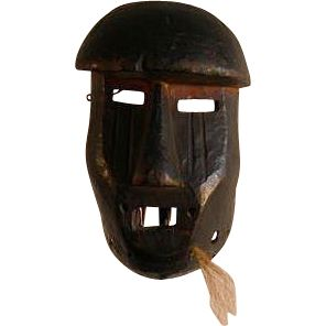 Salampasu Kasangu Circumcision Mask, DRC - circa pre 1950  A fine Kasangu Circumcision Mask is simple and very powerful.  The Kasangu (Warriors) are the second ranking group of the three in the membership of the Mungongo Society - an all male organization within the Salampasu people.