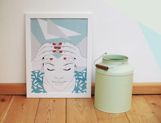Wanddeko - Ordnung, Digitaldruck A3 - ein Designerstück von URwerk-made-in-Ehrenfeld bei DaWanda