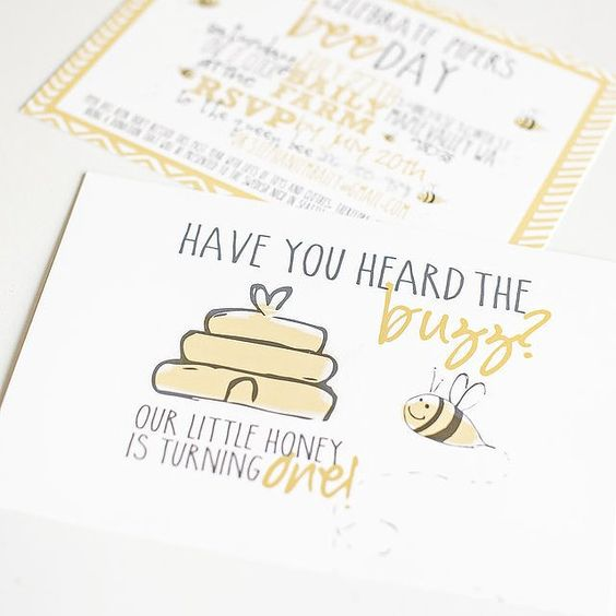 Oh, to Bee One! A First Bumble Beeday Party: When Anna Nodolf of ADN Designs was asked by her good friend to design a bumblebee-themed party for her little girl's first birthday, she delivered with the sweetest bumblebee birthday party we've ever seen!