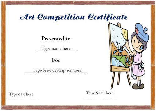 20 Art Certificate Templates To Reward Immense Talent In Artwork