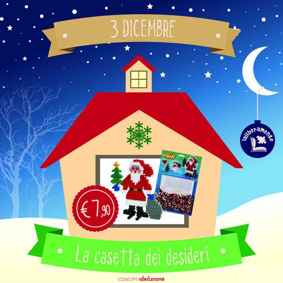 Toc Toc...si aprono le finestre della casetta dell'avvento de Laliberamente!  Coloratissime ed originali perline HAMA di plastica compongono un Babbo Natale carico di doni!
