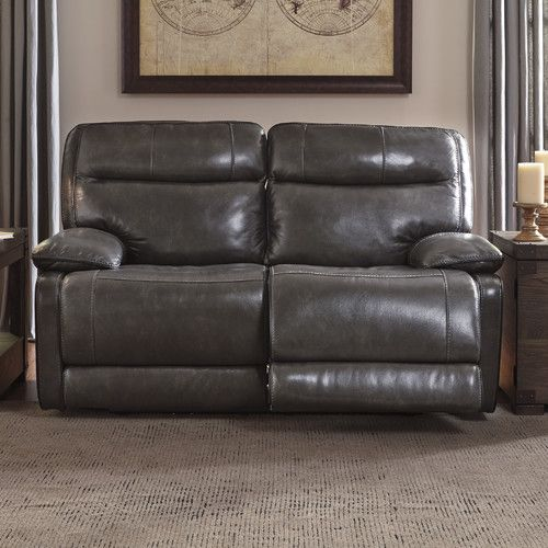 Found it at Wayfair - Leather Reclining Loveseat