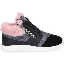 Giuseppe Zanotti Sneaker High Singleg Glattleder Kaninchenfell Wolle Logo Altrosa Grau Schwarz Giuse In 2020 Giuseppe Zanotti Sneakers Giuseppe Zanotti Giuseppe