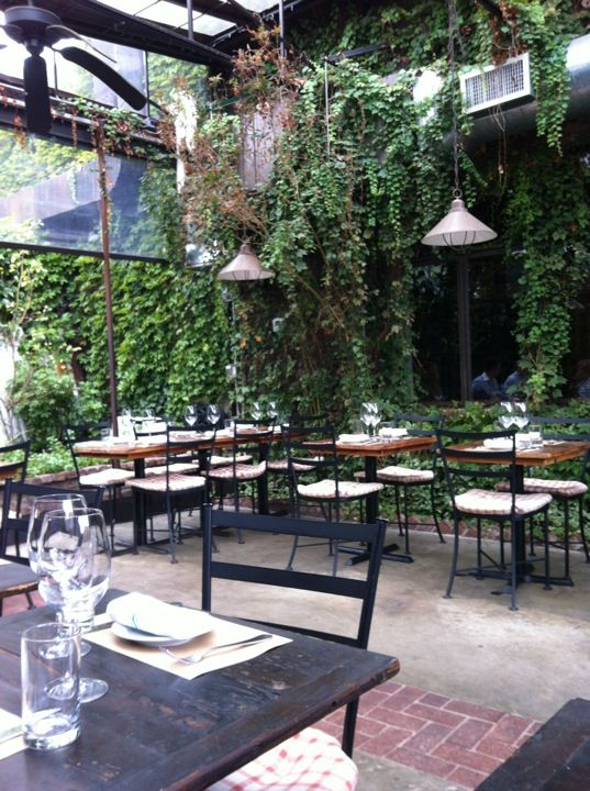 Aurora 70 Grand Street In Brooklyn NY A Tuscan Styled Dining Room Large Leafy Garden Set The Stage For Rustic Italian Cooking Auro