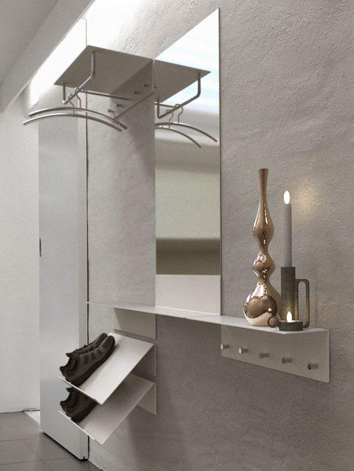 unu flur garderobe mit spiegel und schuhregal von. Black Bedroom Furniture Sets. Home Design Ideas