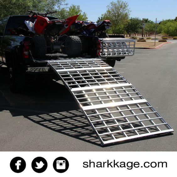 loading ramp motorcycle ramp bed extender atv shark kage