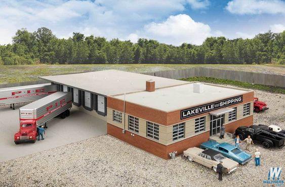 Cross Dock Truck Facility Kit 16 5 16 X 19 3 16 X 3 1 8 41 4 X 48 7 X 7 9cm Model Building Kits Ho Scale Buildings Model Trains