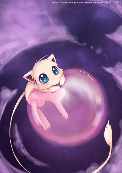 Oh my gosh mew is my most favoritest pokemon ever and i - The most adorable pokemon ...