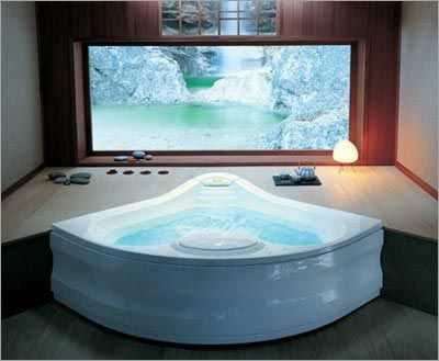 Tvs i want and spa like bathroom on pinterest - Whirlpool tubs for small bathrooms ...