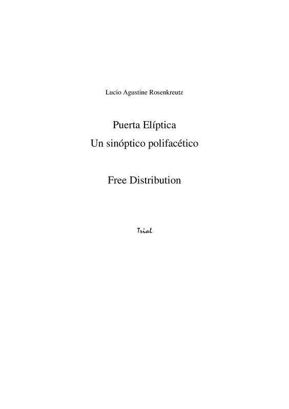 Lucio Rosenkreutz — Elliptical Door (A multifaceted synoptic) ✩ 2st Second Page of the Limited, Scribd Dark Plate Octobre 18st 2012 Rectifiées. | subefotos.com