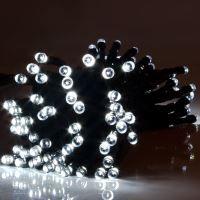 GUIRLANDE LUMINEUSE  Guirlande solaire blanche 100 LED 18m