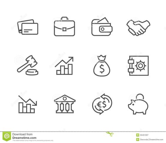 Stroked Financial Icons Set. - Download From Over 27 Million High Quality Stock Photos, Images, Vectors. Sign up for FREE today. Image: 35451597