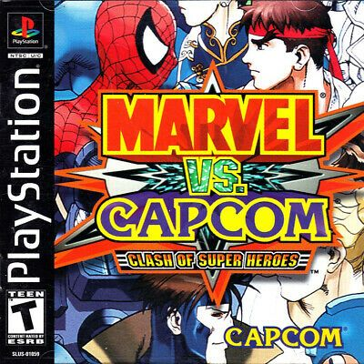Marvel Vs Capcom Clash Of Super Heroes Playstation Ps1 Disk Only Marvel Movies Avengers Marvel Vs Marvel Vs Capcom Capcom
