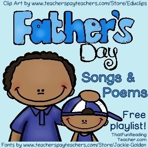 FREE Playlist #FathersDay - Songs and Poems.   - Repinned by Totetude.com