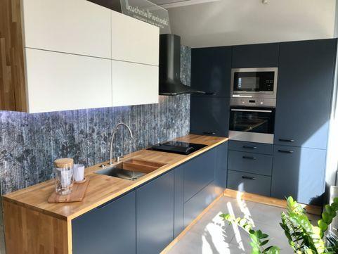 Mega Okazja Kuchnia Mdf Grafit Blat Drewniany Zmiana Ekspozycji Kitchen Kitchen Cabinets Decor