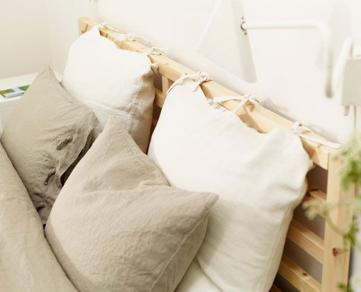 Linblomma natural coloured quilt cover and pillowcases in for Ikea schlafsofa 79 euro