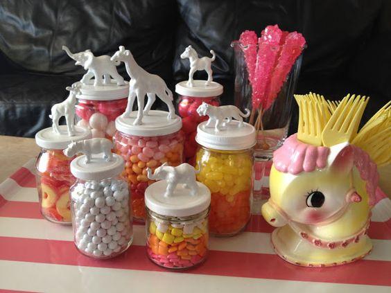 Milkglass and Honey: DIY: Toy Animal Jars
