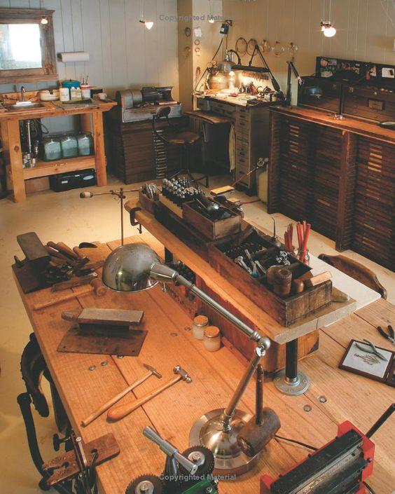 The Jeweler's Studio.   This is like my ultimate dream studio! drool, drool!