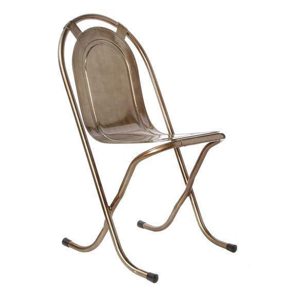 Replica Stak-A-By Chair (Gunmetal, Varnished) - Matt Blatt
