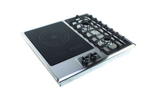 True Induction Ti 1 2b Double Gas Burner And Induction Cooktop Induction Cooktop Gas Burners Electric Cooktop