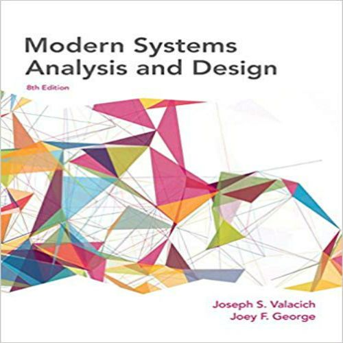 Test Bank For Modern Systems Analysis And Design 8th Edition By Valacich And George Instant Download Library Test Bank And Solutions Systems Development Life Cycle Analysis Free Pdf Books