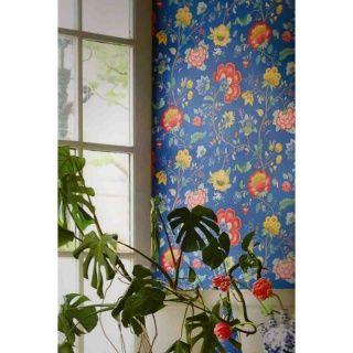 pip studio vlies tapete 341034 floral blau vintage. Black Bedroom Furniture Sets. Home Design Ideas