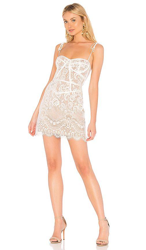 For Love Lemons Tati Lace Corset Dress In White Revolve
