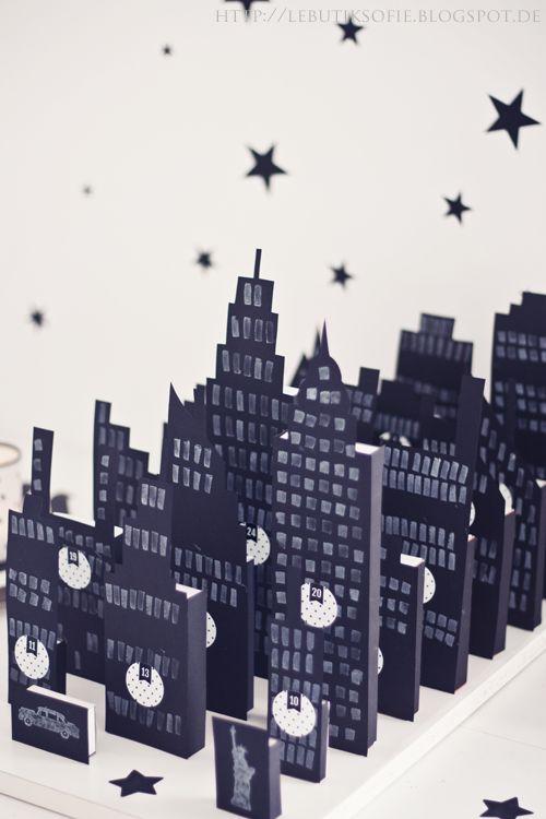 butiksofie: DIY NYC Adventskalender und Weihnachtskarten