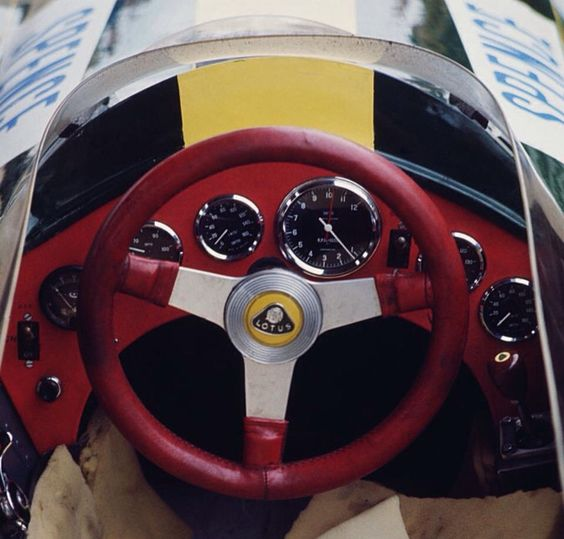 Mike Spence's Lotus 33 office 1965 (Getty)...