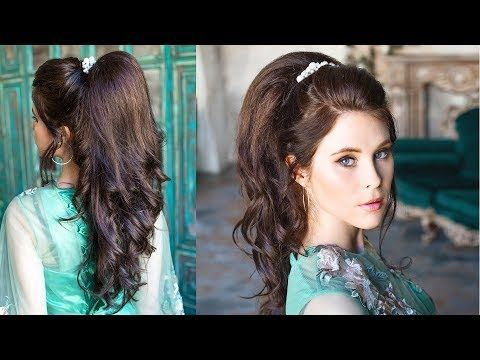 Incredible Volumetric Ponytail Quite Simple Prom Hairstyle For Thin Long Hair Youtube Simple Prom Hair Long Hair Styles Cute Prom Hairstyles
