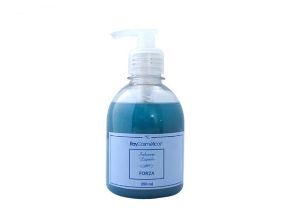 Sabonete líquido cremoso desenvolvido para cuidar da pele masculina e contém extratos naturais...  ::: RAY COSMETICOS - Sabonete Líquido Forza