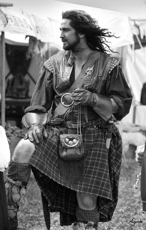 a man in a kilt