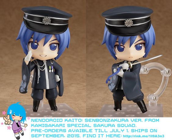 Nendoroid KAITO: Senbonzakura Ver. So cute!   #nendoroid #rinkya #japan #vocaloid #senbonzakura