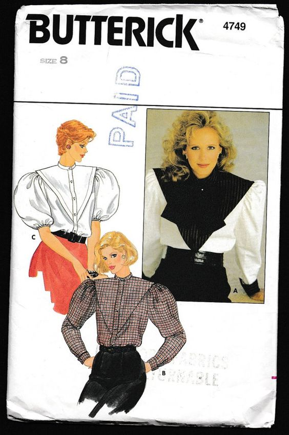 Butterick 4749 Misses Front and Back Tucked Yoke by OutoftheConex