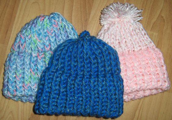 Loom Knitting Patterns: Loomknitting Stickring, Easy Loom Knitting Patterns, Free Pattern, Loom Knitting For Kids, Knit Loom Patterns, Long Loom, Knitting Loom Baby Hat